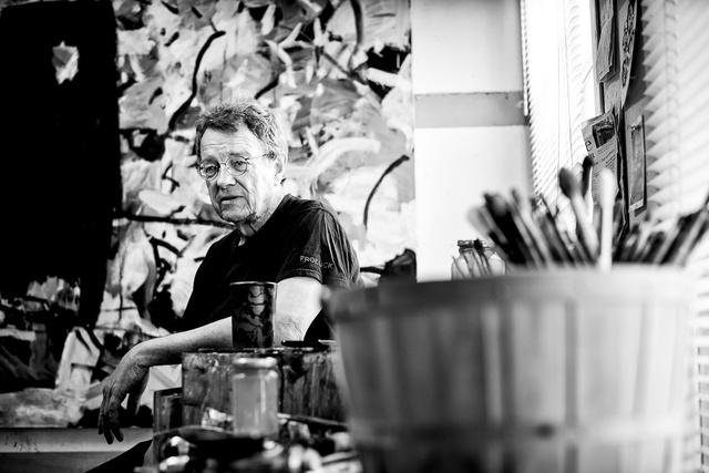 Tom Prochaska in his studio- photo by K. B. Dixon